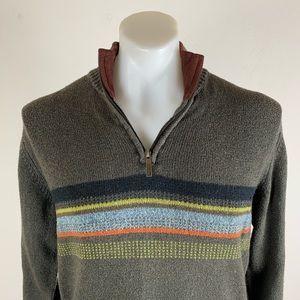 Columbia Striped Zip Sweater